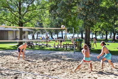 Strandbad Übersee Beachvolleyball
