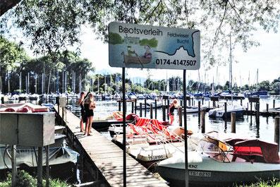 Bootsverleih am Chiemsee - Ausflugsziel von den Ferienwohnungen  Alte Gendarmerie Übersee