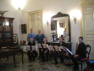 """Sala riunioni dello studio:CONCERTO a cura del Rotary Club - Quartetto di flauti dolci """"DAPHNE RECORDER QUARTET """""""