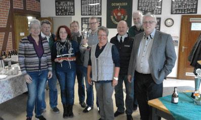E. Bracht, K. Gildner, A. Jürs, T. Jürs,S.-C. Martin, U. Schmidt, H. Holey, R. Krentz (von links)