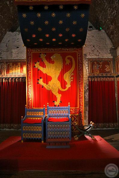 Blick in den Audienzsaal von Dover Castle