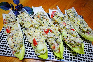 Basisch veganer Quinoa-Linsen-Salat