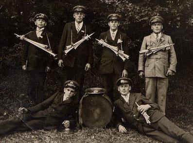 Kreenheinstetter Musikanten im Jahre 1926