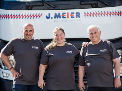 Ein starkes Team: Köbi Meier, Monika Meier, Schaggi Meier sen. (v.l.n.r.)