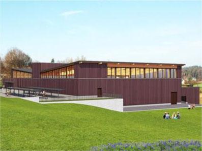 So soll die Dreifachhalle aussehen. Bild: Medienmitteilung Gemeinderat Gossau ZH