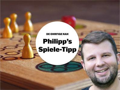 Philipp van der Loo von DE OHRFIGE NAH gibt Spiel-Tipps. Bild: bunts.ch