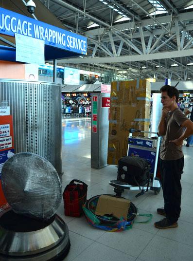 Bangen vor der Gepäckaufgabe