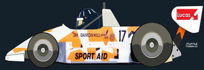 Damon Hill by Muneta & Cerracín - Ralt RT30 Volkswagen. British F3 Championship 1986 Brands Hatch