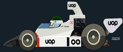 Jean-Pierre Jarier by Muneta & Cerracín - Fórmula 5000 con un Shadow DN6 - Chevrolet V8