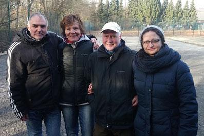 v.l. Meikel, Martina, Marcel und Elina
