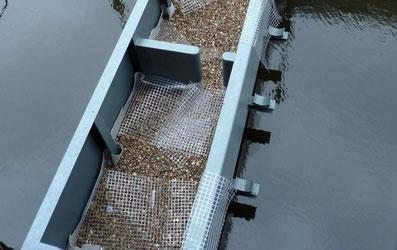 Bau der Fischtreppe an der Rathausschleuse, April 2014