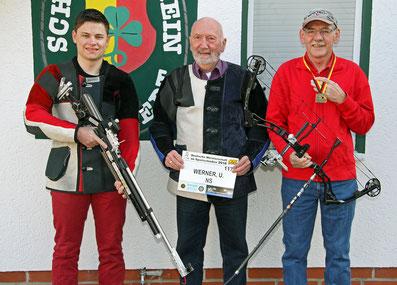 Teilnehmer des SV Sarstedt 51 an der DM 2016:  v. l.  Nicolas Nickel, Ulrich Werner, Hans-Peter Hanke