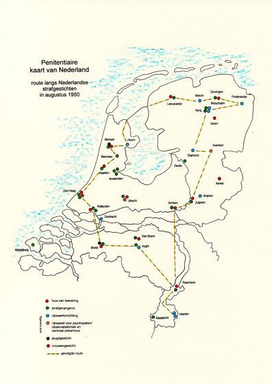 JAD Justitiële Autodienst route