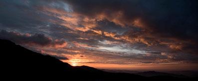 Sonnenuntergang über dem Appenzellerland von der Ebenalp