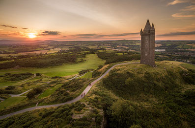 Scrabo Golf Club, Scrabo Tower, Strangford Lough, Newtownards, Comber, Co Down, GUI, Golf NI
