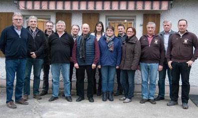 Neue Vorstandschaft des Imkervereins Burglengenfeld/Maxhütte-Haidhof e.V. 2016