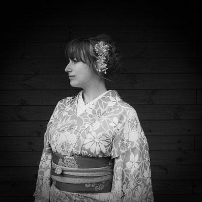 Floratcha im Kimono in Japan