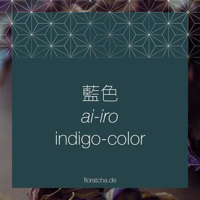 Indigo Color Ai Iro eine traditionell japanische Farbe