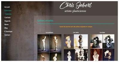 Sculptures de Chris Jobert artiste sculpteur Honfleur atelier galerie
