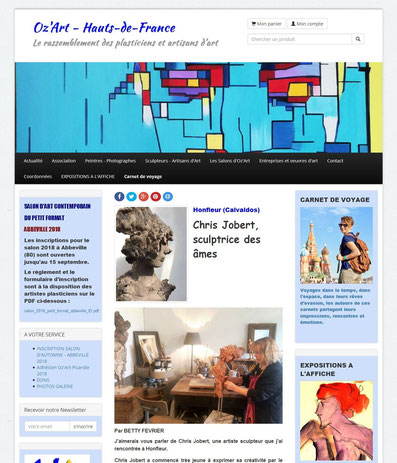 article presse Chris Jobert sculptrice Honfleur