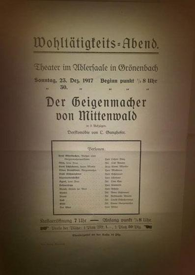 Theater Plakat Voranzeige