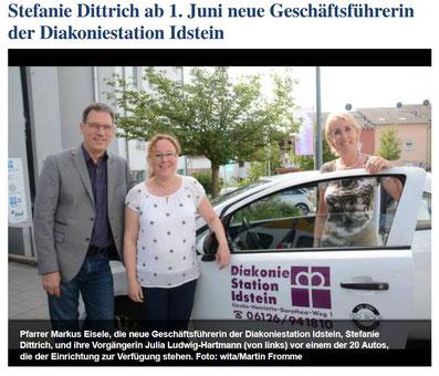 Screenshot der Website der Idsteiner Zeitung