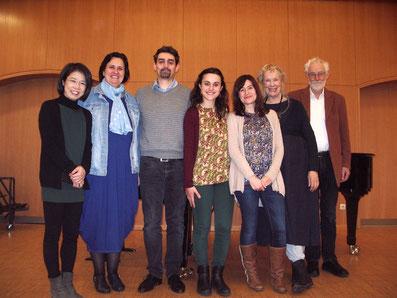 FOTO: Chie Honda, Flora Gáll, Raúl Climent, Paloma López Alonso, Rocío Rossi, Helen Brunner, Johannes Lievaart.