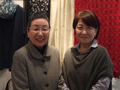 代表 高岩純子(左)パタンナー 山本 ゆか(右)