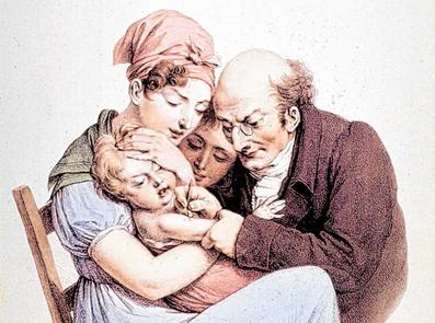 """Grafik """"La Vaccine"""", 1837"""
