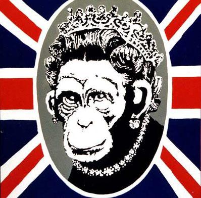 チンパンジーに書き換えられたエリザベス女王2世