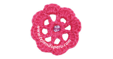 Flor fácil de tejer a crochet (easy crochet flower)