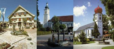 Scheidegg im Allgäu - Rathaus - Kirche Scheidegg - Kirche Scheffau
