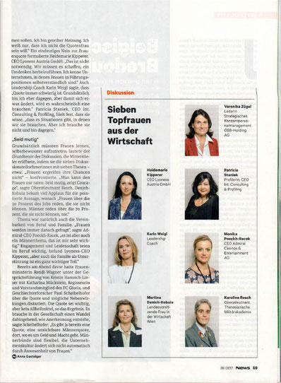 NEWS, Women Leadership Forum 2017, WLF 17, WLF 2017, Women Leadership, Frau macht Bildung, Bildung ist weiblich, Heidemarie Kipperer, Karin Weigl, Martina Denich-Kobula, Veronika Zügel, Patricia Staniek, Monika Poeckh-Racek, Karoline Resch