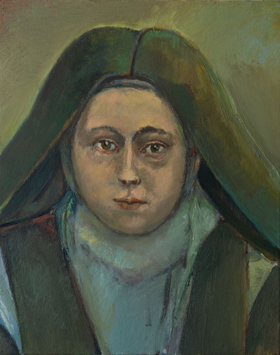 Sainte Therese de Liseux, 38cm x 46cm, Öl auf Leinwand, 2011