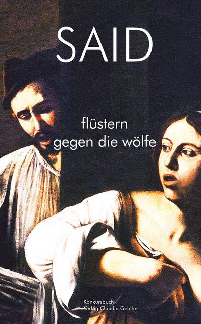 Das Bild zeigt das Cover von Flüstern gegen die Wölfe von Said.