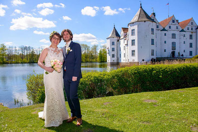Brautpaar Brautpaarshooting Schloss Glücksburg