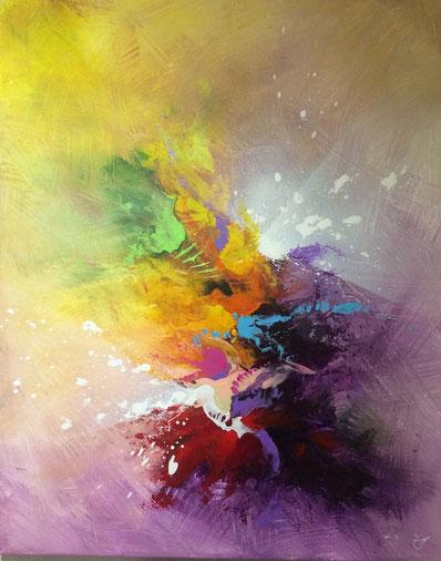toile coloré fait main