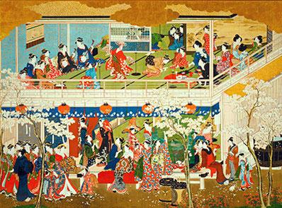 喜多川歌麿「吉原の花」