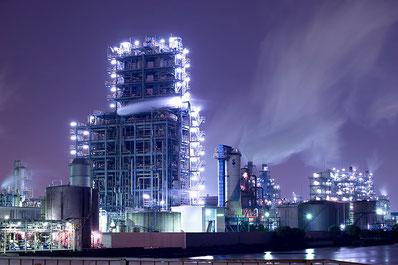 昭和電工川崎事業所の夜景