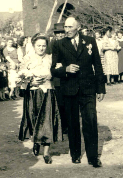 70-jähriges Jubelkönigspaar: Josef Vogt und Hildegard Wulf