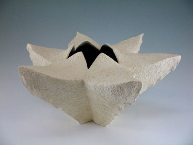 "White Seedpod Vessel, 9"" x 18"" x 18"""