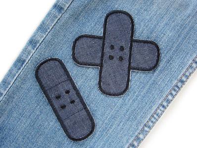 Bild: Hosenpflaster Jeansflicken schwarz zum aufbügeln