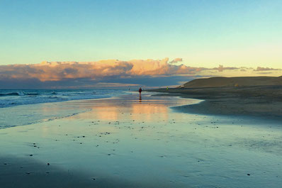 Strandlauf entlang der Dünen