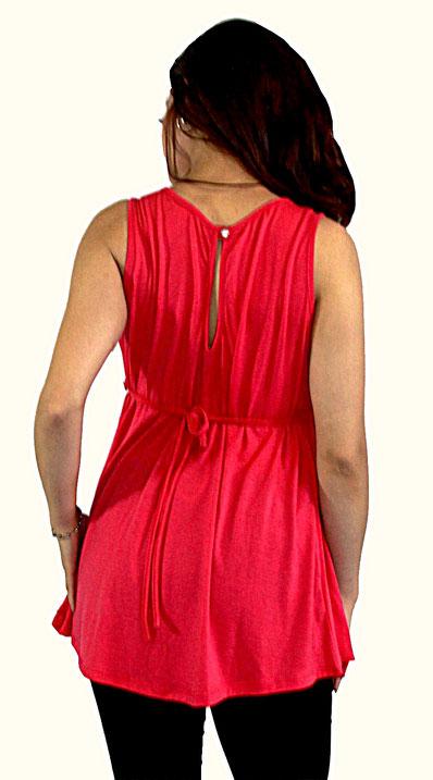 sleeveless pink maternity top
