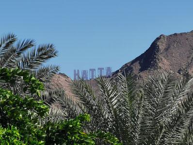 Blick auf die Berge vom Cafe Al Yamm
