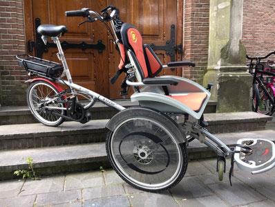 van Raam O'Pair fiets met ombouwset van FONebike Fiets Ombouwcentrum Nederland