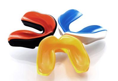 individuell hergestellter Zahnschutz für Sportler