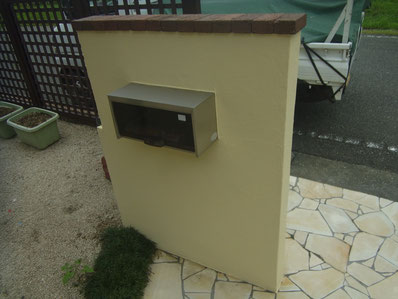 塀塗装完成 ビュークリーンDX 熊本Y様邸