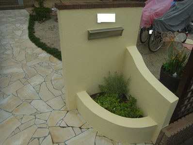 塀塗装完成 正面図 ビュークリーンDX 熊本Y様邸