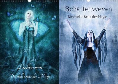 Ravienne Art Model - Kalender-Cover-Fotos - Lichtwesen, Schattenwesen, Digital Art, Dark Art, Fantasy